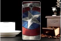 """Фирменная уникальная задняя панель-крышка-накладка из тончайшего силикона для Wileyfox Swift  с объёмным 3D рисунком тематика """"Патриот"""""""