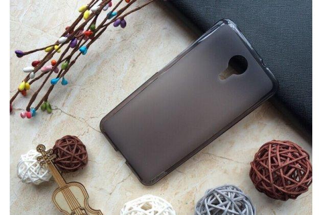 Фирменная ультра-тонкая полимерная из мягкого качественного силикона задняя панель-чехол-накладка для Wileyfox Swift черная