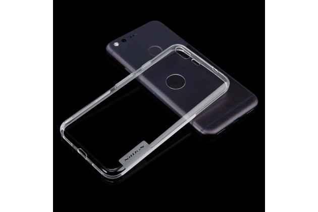Фирменная ультра-тонкая полимерная из мягкого качественного силикона задняя панель-чехол-накладка для Google Pixel/HTC Google Nexus 2016/ HTC Nexus S1 светло-серого цвета