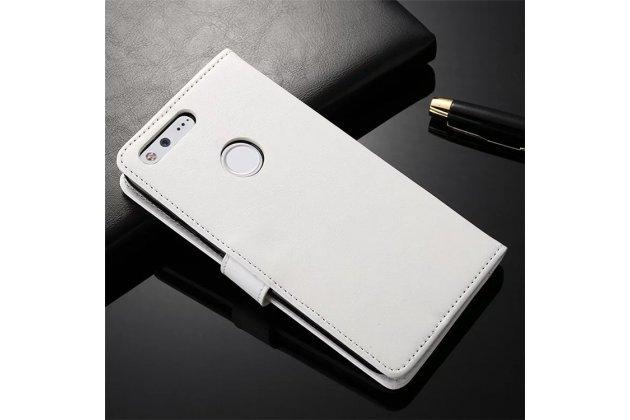 Фирменный чехол-книжка из качественной импортной кожи с мульти-подставкой застёжкой и визитницей для Google Pixel/HTC Google Nexus 2016/ HTC Nexus S1 белый