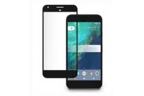 Фирменное 3D защитное изогнутое стекло с закругленными изогнутыми краями которое полностью закрывает экран / дисплей по краям с олеофобным покрытием для Google Pixel/HTC Google Nexus 2016/ HTC Nexus S1