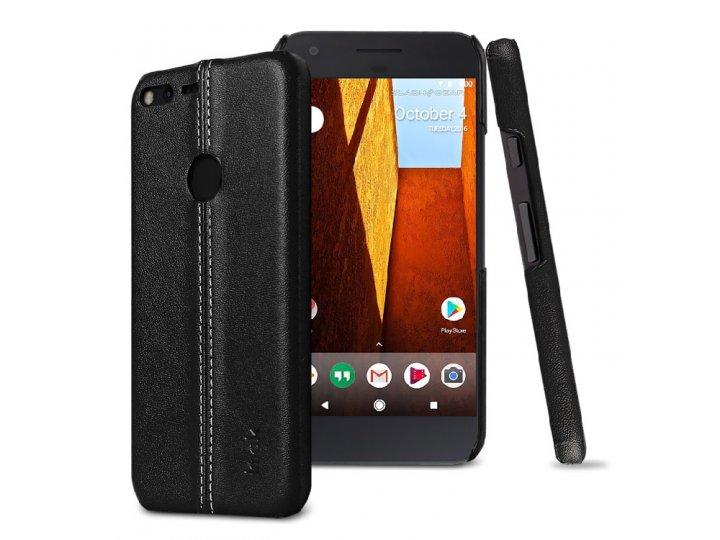 Задняя панель-крышка из тончайшего и прочного пластика обтянутая импортной кожей для Google Pixel/HTC Google N..