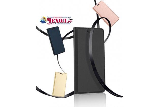 Фирменный премиальный элитный чехол-книжка с мульти-подставкой и визитницей для Google Pixel 2 XL водоотталкивающий цвет черный