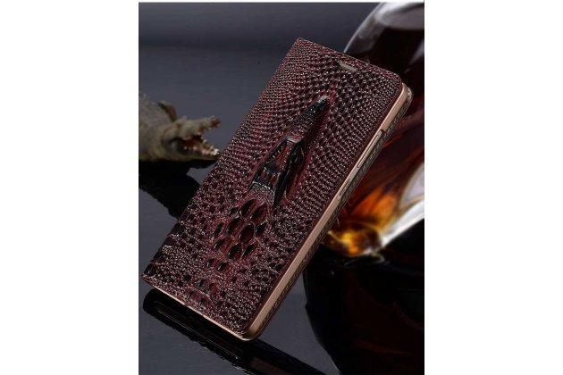 Фирменный роскошный эксклюзивный чехол с объёмным 3D изображением кожи крокодила цвет красное вино для Google Pixel 2 XL . Только в нашем магазине. Количество ограничено