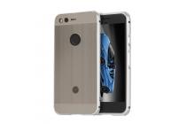 Фирменная металлическая задняя панель-крышка-накладка из тончайшего облегченного авиационного алюминия для Google Pixel XL/HTC Google Nexus Marlin M1 серебристая