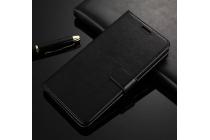 Фирменный чехол-книжка из качественной импортной кожи с мульти-подставкой застёжкой и визитницей для Google Pixel XL/HTC Google Nexus Marlin M1 чёрного цвета.