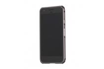 Фирменная металлическая задняя панель-крышка-накладка из тончайшего облегченного авиационного алюминия для Google Pixel XL/HTC Google Nexus Marlin M1 чёрного цвета