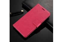 Фирменный чехол-книжка из качественной импортной кожи с мульти-подставкой застёжкой и визитницей для Google Pixel XL/HTC Google Nexus Marlin M1 розового цвета.