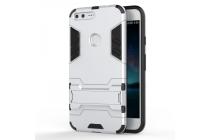 Противоударный усиленный ударопрочный фирменный чехол-бампер-пенал для Google Pixel XL/HTC Google Nexus Marlin M1 серебряного цвета