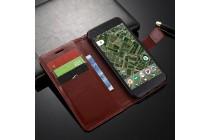 Фирменный чехол-книжка из качественной импортной кожи с мульти-подставкой застёжкой и визитницей для  Google Pixel XL/HTC Google Nexus Marlin M1 коричневого цвета.