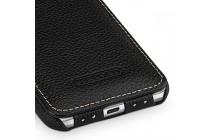 Фирменный оригинальный вертикальный откидной чехол-флип для Google Pixel XL/HTC Google Nexus Marlin M1 черный из натуральной кожи Prestige Италия