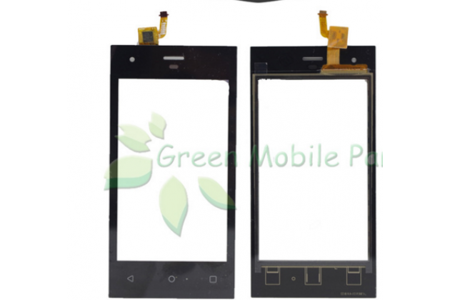 Фирменное сенсорное-стекло-тачскрин на Highscreen Easy F черный + инструменты для вскрытия + гарантия