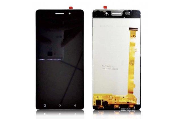 Фирменный LCD-ЖК-сенсорный дисплей-экран-стекло с тачскрином на телефон Highscreen Power Ice черный + гарантия