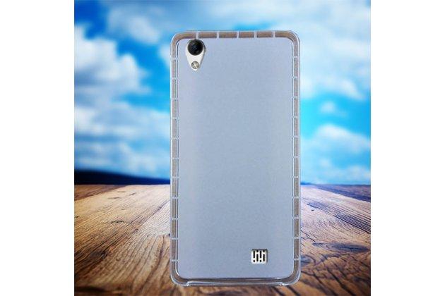 Фирменная ультра-тонкая полимерная из мягкого качественного силикона задняя панель-чехол-накладка для HomTom HT16 белая