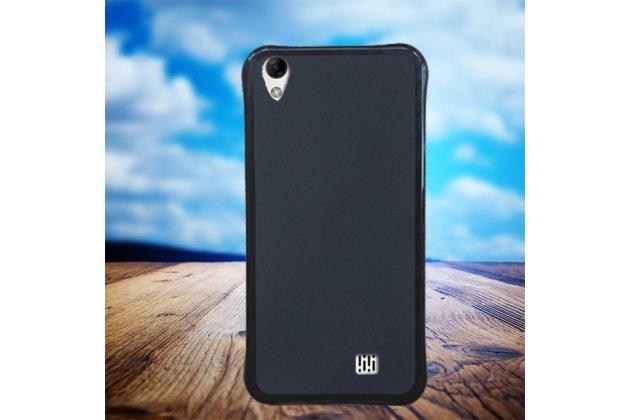 Фирменная ультра-тонкая полимерная из мягкого качественного силикона задняя панель-чехол-накладка для HomTom HT16 черная
