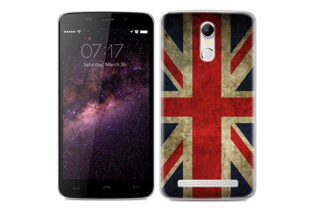 Фирменная роскошная задняя панель-чехол-накладка с безумно красивым расписным рисунком на HomTom HT17/ HT17 Pro тематика Британский флаг