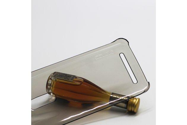 Фирменная задняя панель-крышка-накладка из тончайшего и прочного пластика для HomTom HT17/ HT17 Pro серая