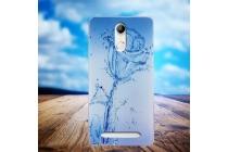 """Фирменная ультра-тонкая полимерная из мягкого качественного силикона задняя панель-чехол-накладка для HomTom HT17/ HT17 Pro тематика """"водяная роза"""""""