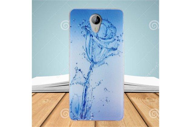 """Фирменная роскошная задняя панель-чехол-накладка  из мягкого силикона с безумно красивым расписным 3D рисунком на HomTom HT3 Pro тематика """"Водяная роза"""""""