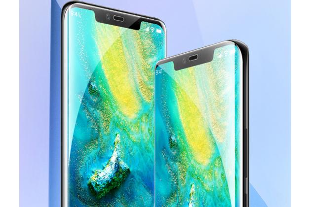 Фирменная оригинальная 3D защитная пленка с закругленными краями которое полностью закрывает экран для телефона Huawei Mate 20 6.53 глянцевая