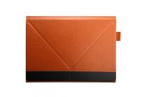 """Фирменный оригинальный чехол-клатч-сумка с визитницей для HP Elite X2 G1 L5H19EA 12"""" 128Gb/256Gb .. из качественной импортной кожи с отделением для клавиатуры"""