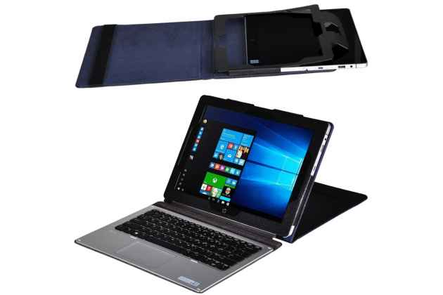 Фирменный оригинальный чехол для HP Elite X2 G1 L5H19EA 12 с отделением под клавиатуру черный кожаный