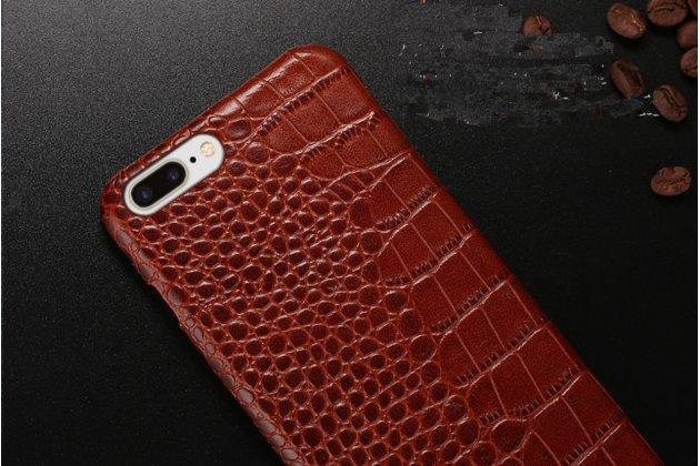 Фирменная элегантная экзотическая задняя панель-крышка с фактурной отделкой натуральной кожи крокодила кофейного цвета для HTC 10 evo . Только в нашем магазине. Количество ограничено.
