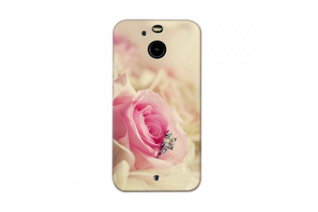 Фирменная роскошная задняя панель-чехол-накладка с безумно красивым расписным рисунком Тематика Розы на HTC 10 evo