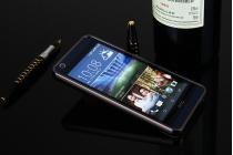 """Фирменная металлическая задняя панель-крышка-накладка из тончайшего облегченного авиационного алюминия для HTC Desire 630/ 630 Dual Sim"""" черная"""