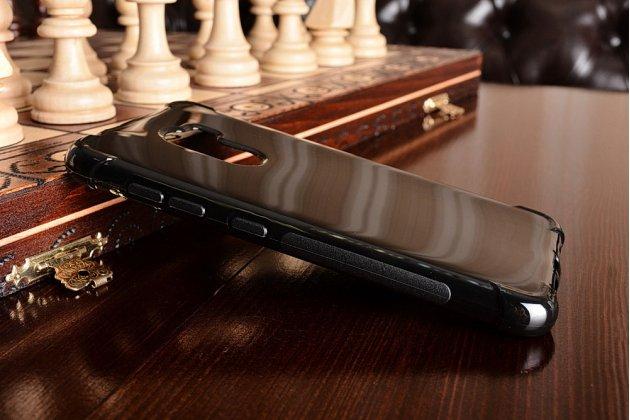 Фирменная ультра-тонкая полимерная из мягкого качественного силикона задняя панель-чехол-накладка для HTC One X10 черная