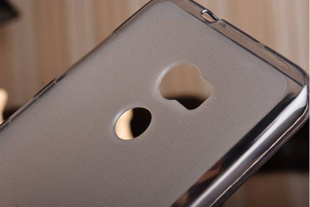 Фирменная ультра-тонкая полимерная из мягкого качественного силикона задняя панель-чехол-накладка для HTC One X10 серая