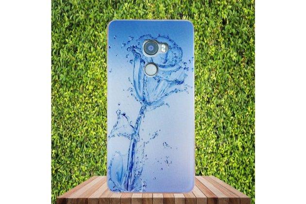 Фирменная ультра-тонкая полимерная из мягкого качественного силикона задняя панель-чехол-накладка для HTC One X10 тематика Цветок
