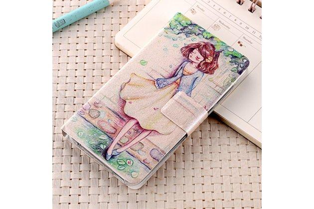Фирменный уникальный необычный чехол-подставка для HTC One X10  тематика Девочка
