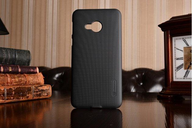 Фирменная задняя панель-крышка-накладка из тончайшего и прочного пластика для HTC U Play черного цвета