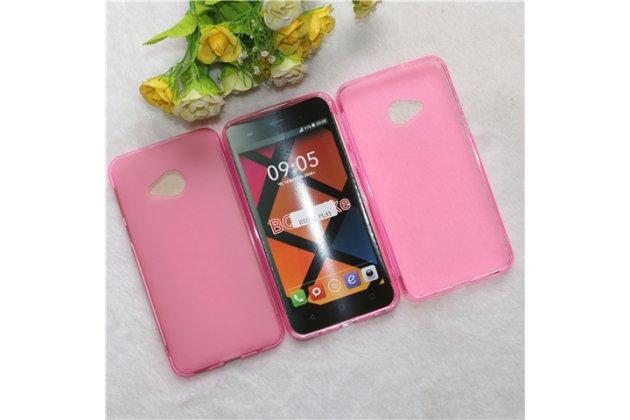 Фирменная ультра-тонкая полимерная из мягкого качественного силикона задняя панель-чехол-накладка для HTC U Play розового цвета.