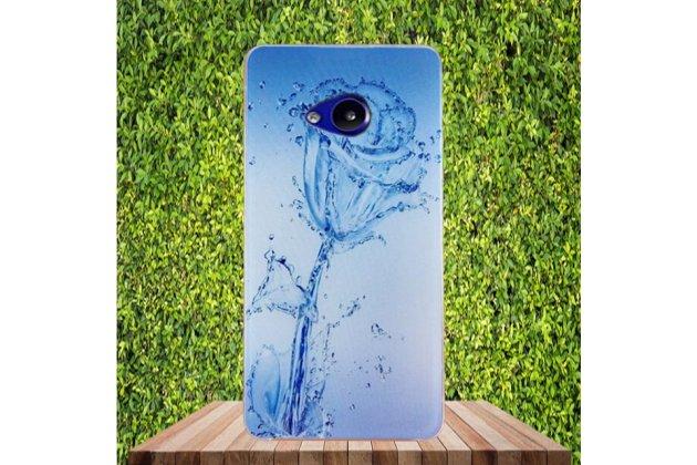 """Фирменная ультра-тонкая полимерная из мягкого качественного силикона задняя панель-чехол-накладка для HTC U Play"""" тематика """"водяная роза"""""""