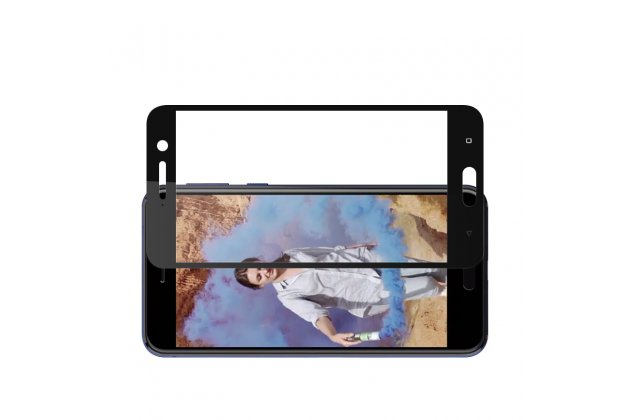 Фирменное 3D защитное изогнутое стекло с закругленными изогнутыми краями которое полностью закрывает экран / дисплей по краям с олеофобным покрытием для HTC U Play Черное