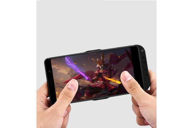 Чехол-бампер со встроенной усиленной мощной батарей-аккумулятором большой повышенной расширенной ёмкости 10000 mAh для HTC U Ultra черный + гарантия