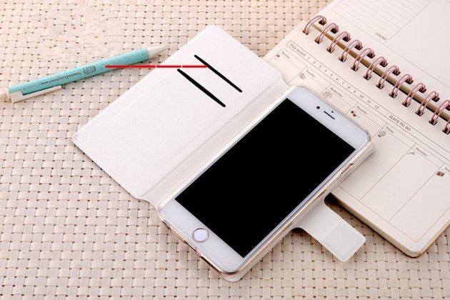 """Фирменный чехол-книжка из кожи с подставкой застёжкой и визитницей для HTC U Ultra с изображением """"Девушка"""""""