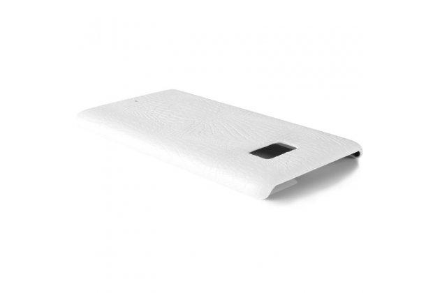 Фирменная роскошная премиальная задняя панель-крышка на пластиковой основе обтянутая фактурной кожей крокодила для HTC U Ultra белая