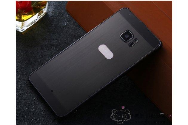 Фирменная металлическая задняя панель-крышка-накладка из тончайшего облегченного авиационного алюминия для HTC U Ultra черная