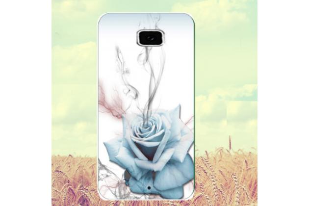 """Фирменная ультра-тонкая полимерная из мягкого качественного силикона задняя панель-чехол-накладка для HTC U Ultra тематика """"роза"""""""