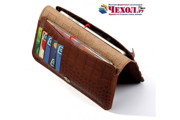 Фирменный чехол-портмоне-клатч-кошелек на силиконовой основе из качественной импортной кожи для HTC U11 Life красный