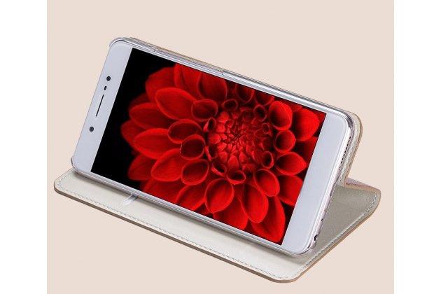Фирменный премиальный элитный чехол-книжка из качественной импортной кожи с мульти-подставкой и визитницей для HTC U11 Life  розовый