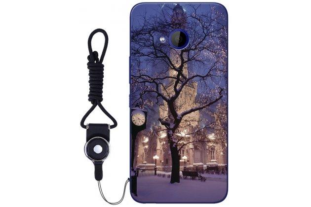 """Фирменная роскошная задняя панель-чехол-накладка  из мягкого силикона с безумно красивым расписным 3D рисунком на HTC U11 Life """"тематика Ночной город"""""""
