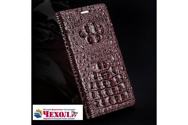 Фирменный роскошный эксклюзивный чехол с объёмным 3D изображением рельефа кожи крокодила цвет Красное вино для HTC U11 Plus Только в нашем магазине. Количество ограничено