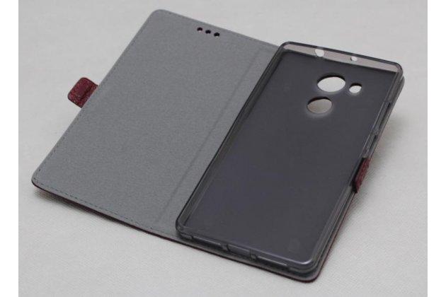 Фирменный оригинальный подлинный чехол с логотипом для HTC U11 Plus из натуральной кожи светло-коричневый