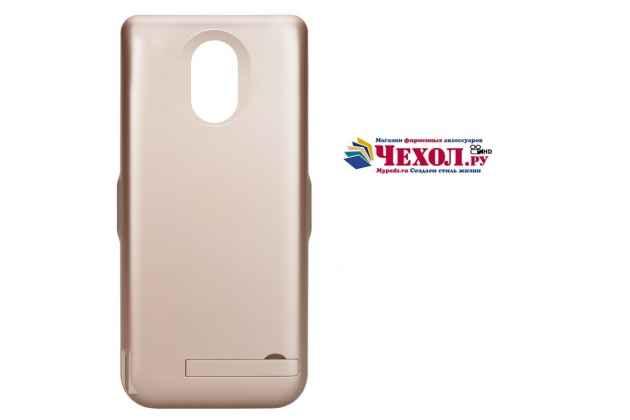 Чехол-бампер со встроенной усиленной мощной батарей-аккумулятором большой повышенной расширенной ёмкости 10000mAh для HTC U11 черный + гарантия