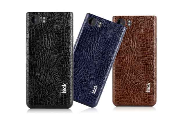 Фирменная роскошная элитная премиальная задняя панель-крышка на пластиковой основе обтянутая лаковой кожей крокодила  для HTC U11 коричневый