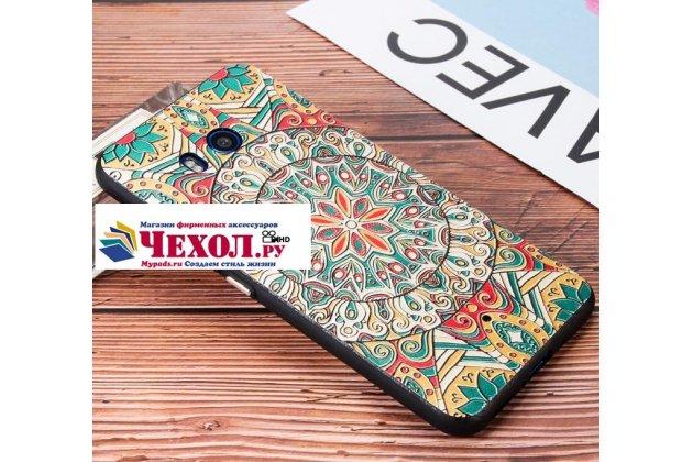 """Фирменная роскошная задняя панель-чехол-накладка  из мягкого силикона с безумно красивым расписным 3D рисунком на HTC U11 """"тематика Стильные узоры"""""""